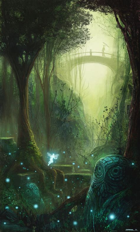 Faerie Forests 001 Emerald Green