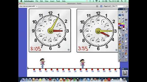 Elapsed Time with a Number Line - YouTube