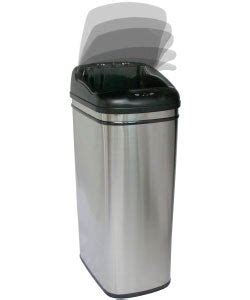 Shop Infra-Red Hands-free 13-gallon Steel Trash Can