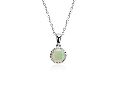 Opal Rope Pendant in Sterling Silver (7mm) | Blue Nile