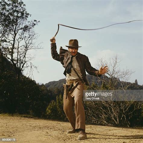 American actor Harrison Ford as Indiana Jones in a
