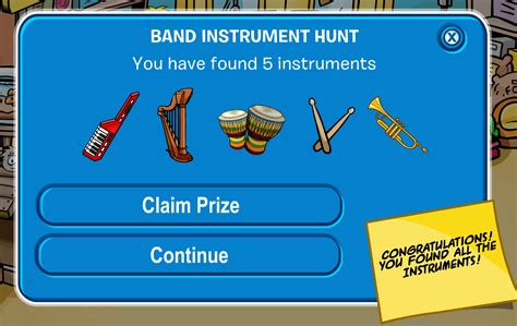 CP Rewritten: Band Instrument Hunt 2020 – Full Guide