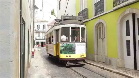 Beautiful Old Trams in Lisbon, Portugal - YouTube