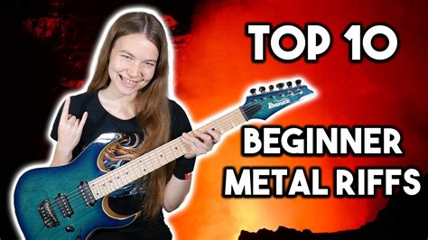 Top 10 Metal Riffs for Beginners - YouTube