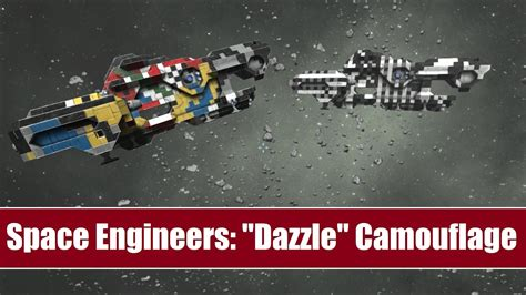 """Space Engineers: Bizarre """"Dazzle"""" Camouflage - Does it"""