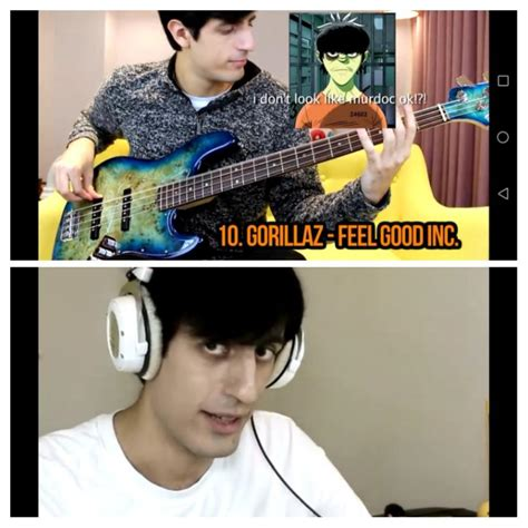 This bass player looks like a younger less green Murdoc