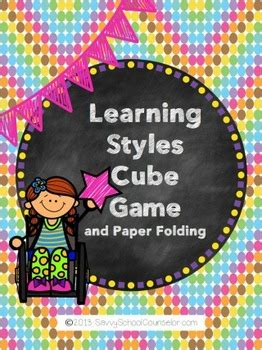 Learning Styles Cube Game- Savvy School Counselor by Savvy