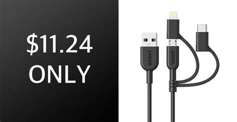 Anker's PowerLine II 3-In-1 Cable Features Lightning, USB