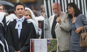 David Gilmour look on as his son Charlie graduates from