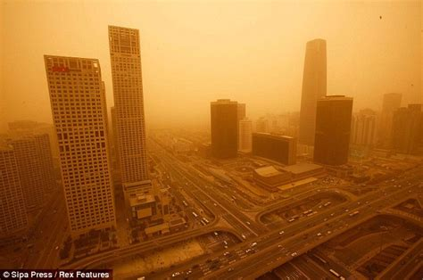 The day the sky turned yellow: Sandstorms sweep across