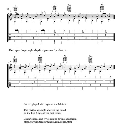 Let Her Go - chords and lyrics by Passenger includes