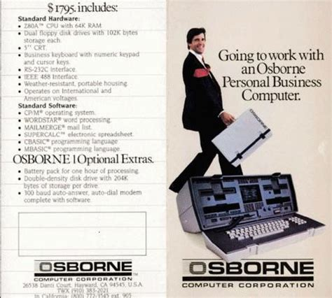 Osborne 1 - The first rugged portable computer