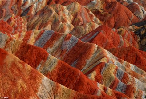 Unique rock formations in China look as if they have been